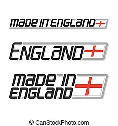 Made in England - Vector illustration of the logo for made...