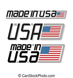 """Made in USA - Vector illustration of the logo for """"made in..."""