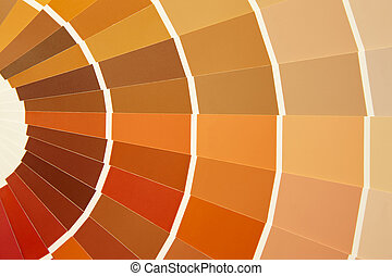 Card color palette in warm tones Yellow orange brown...
