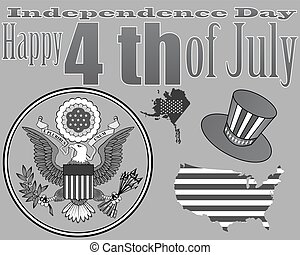 emblem to the US Independence Day