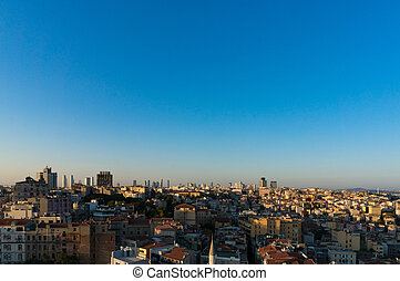 Aerial view of Istanbul, Turkey Modern megalopolis cityscape...