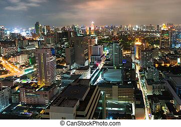 Aerial view of Bangkok, Thailand - Aerial view of Bangkok...