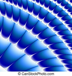 Colored fractal background - Blue Colored fractal pattern...