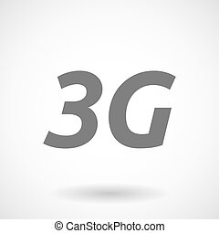 Illustration of the text 3G - Isolated vector illustration...