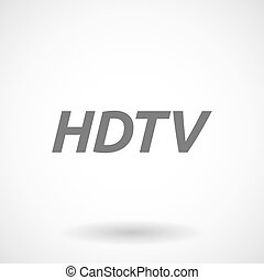 Illustration of the text HDTV - Isolated vector illustration...