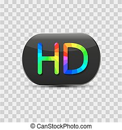 High-definition video sign, vector - High-definition video...