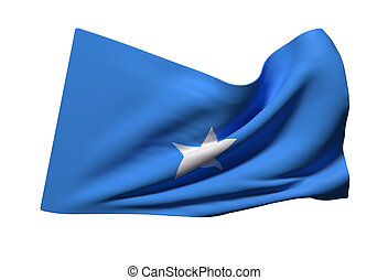 Somalia flag waving - 3d rendering of Somalia flag waving