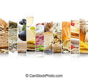 French Food Mix - Photo of mix stripes with French Food and...