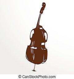 Violoncello. Vector illustration.