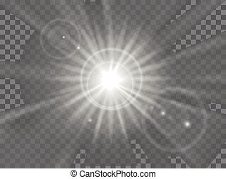 Abstract light rays vector - Abstract light rays or beam of...
