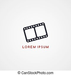 movie icon sign logotype theme vector art illustration