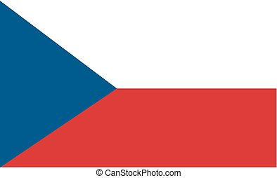 Stock Vector Flag of Czech Republic