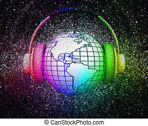 3D world music concept