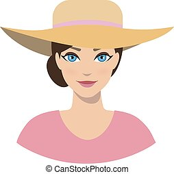 Avatar icon of girl in a sun hat