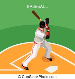 Baseball 2016 Championship Isometric 3D Vector Illustration...