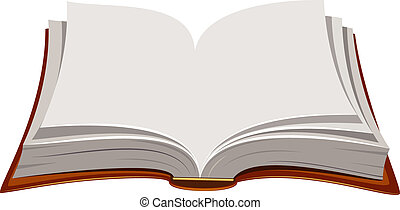 Open Book - Vector image of open book over white. EPS 8, AI,...
