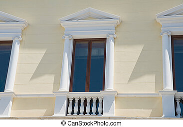 Neoclassical windows.