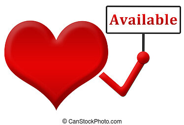 Available Heart Holding Signboard