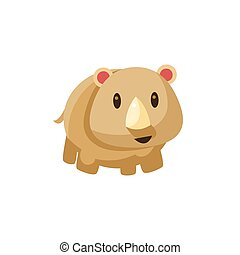 Grey Toy Tapir Cute Childish Style Bright Color Design Icon...