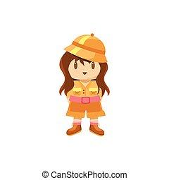 Little Girl Dressed For Safari
