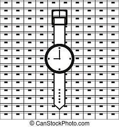Wrist Watch Vector icon - Conditional vector image on black...