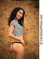 Woman in panties