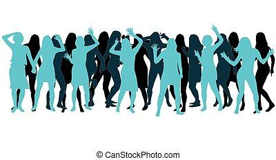Beautiful women dancing.
