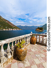 Our Lady of the Rock island in Boka Kotor bay - Montenegro -...