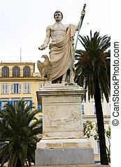 statue Napoleon Bonaparte Bastia Corsica - statue monument...