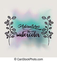 adventures in water color design