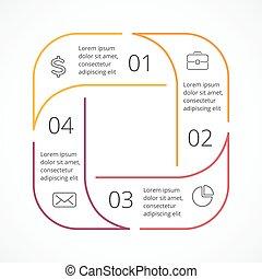 Vector circle linear arrows infographic - Circle arrows...
