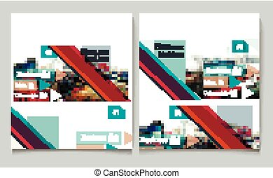 Business report brochure flyer design template vector cover presentation abstract urban style.eps