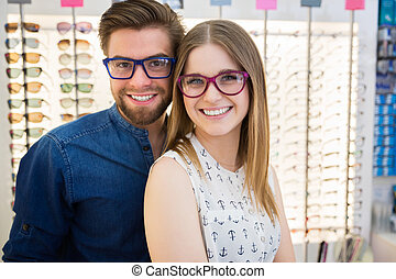 Happy together - A photo of happy couple trying colorful...