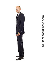 Fullbody business man isolated over a white background
