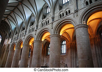 Gloucester Cathedral - interior of the famous Gloucester...