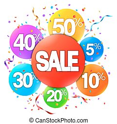 Sale Event Advertisment - Colorful sale event advertisment...