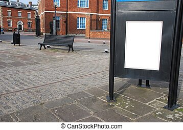 Billboard at the sidewalk - empty billboard at the sidewalk...