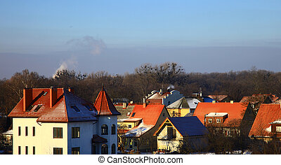 Residential District in the Kaliningrad, Russia. Winter.