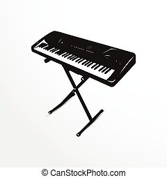 Synthesizer. Vector illustration.