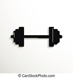 Weightlifting. - Black and white vector illustration.