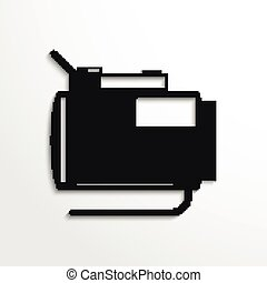 Heater - Black and white vector icon
