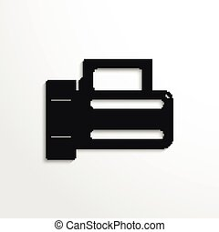 Flashlight Vector icon - Black vector icon