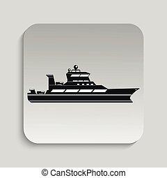 Ocean ship. Vector illustration.