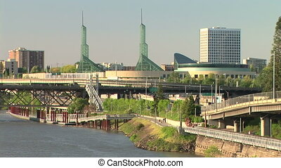 Portland Riverfront - Portland, East of the Willamette River...