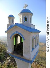 Miniature chapel along the roadside