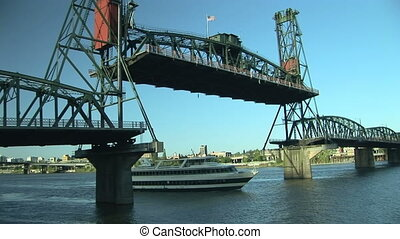 Drawbridge - Steel Bridge in Portland, Oregon.