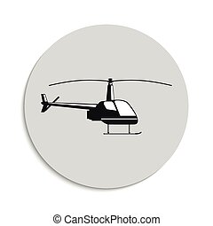 Helicopter. Vector icon.
