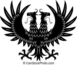 Royal heraldic double headed eagle black symbol - Double...