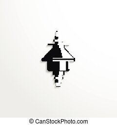 Electrical insulator. - Black and white vector image.