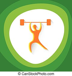 Weightlifting Sport Competition Icon Vector Illustration
